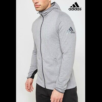 Adidas Mens Freelift Prime Training Full Zip Hoodie Hoody Free Tracked Post