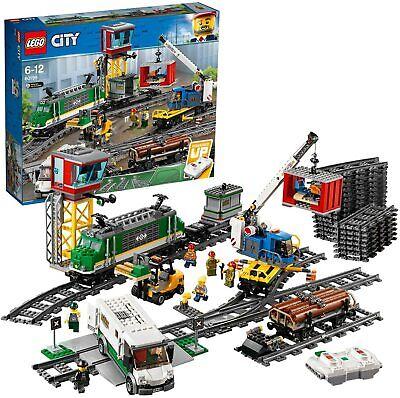 LEGO - CITY - 60198 - Treno Merci, Motore Alimentato a Batteria