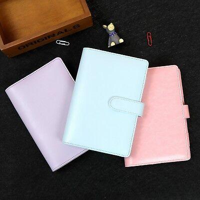 Harphia Pu Leather Cute Planner Agenda Binder Hard Cover A5 A6 Girls Gift