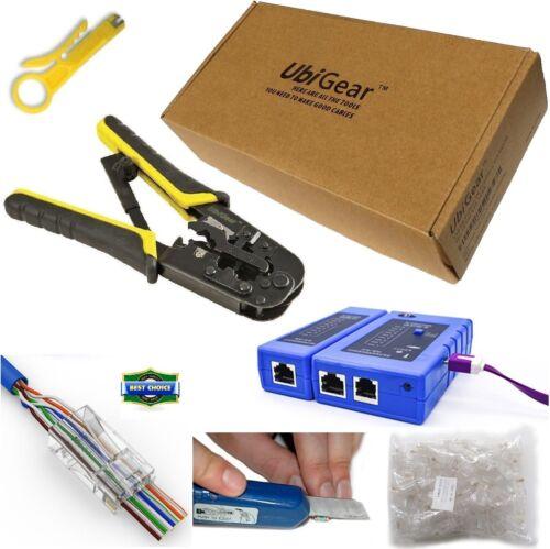 568Tool Crimp Crimper 100 RJ45 CAT5e Connector Plug Network Tool