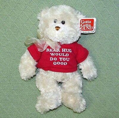 (Gund CORIN Teddy Bear Plush & Bean Bag Stuff WITH TAG BEAR HUG WOULD DO YOU GOOD)