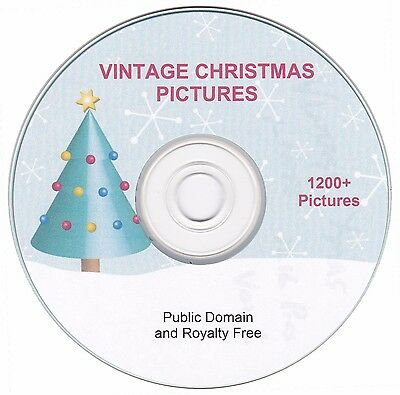 Vintage Christmas Images     1200   Images On Cd