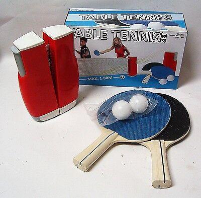 Tischtennis Komplett Set Flexi & Easy Netz + 2 Tischtennisschläger + 2 Bälle