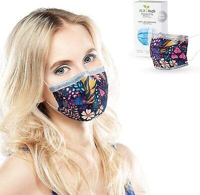 ALB Stoffe® ProtectMe-OP Masken bunt, FLOWER FIELD 100% DE , 20er Pack