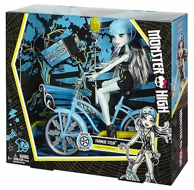 Monster High Doll with Vehicle Set Boltin Bicycle Frankie St