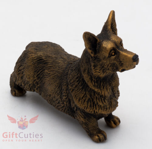 Tin Pewter Figurine of Pembroke Welsh Corgi Dog IronWork