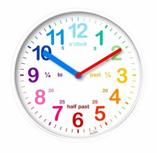 Acctim+Wickford+Kids+Wall+Clock+White+20cm+Dial+22522