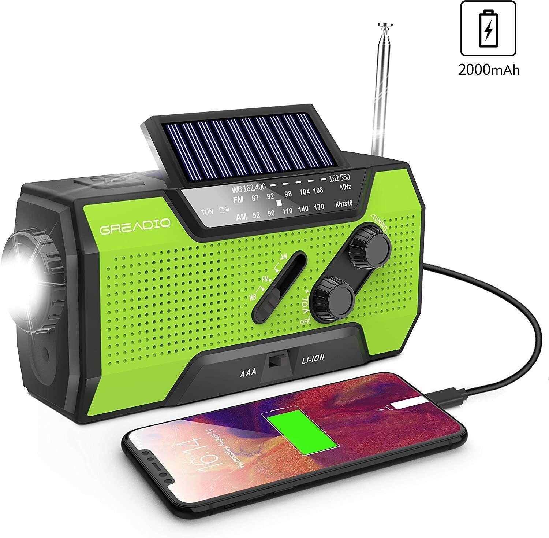 Emergency Weather Solar Crank AM/FM NOAA Radio with Portable