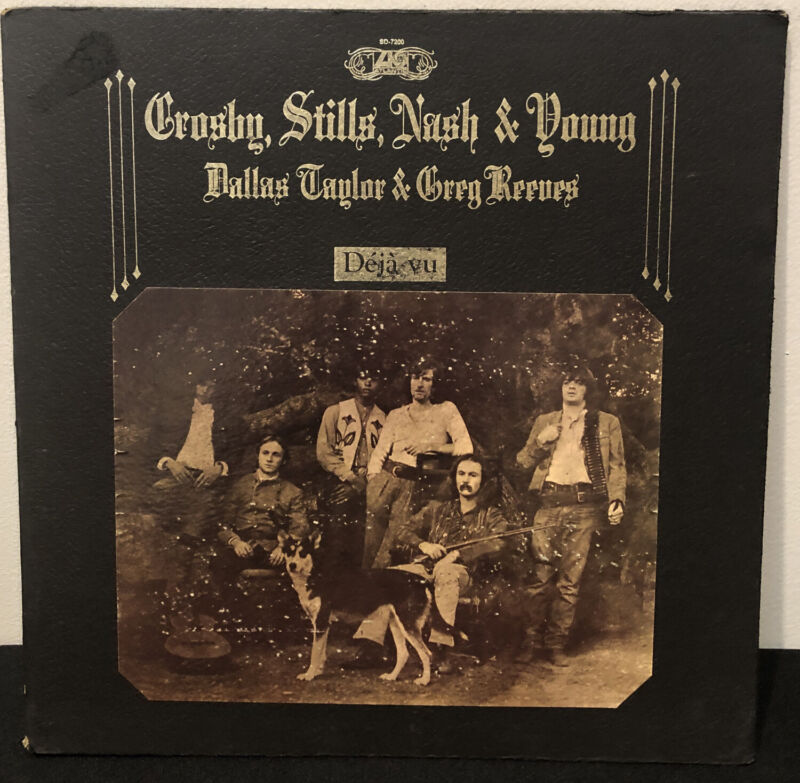 Crosby Stills Nash & Young LP - Deja Vu - Atlantic SD 7200. Ultrasonic Cleaned.