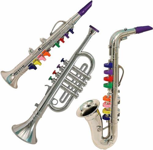 IQ Toys Junior Band 3-Piece Instrument Set (Clarinet, Saxophone, Trumpet)