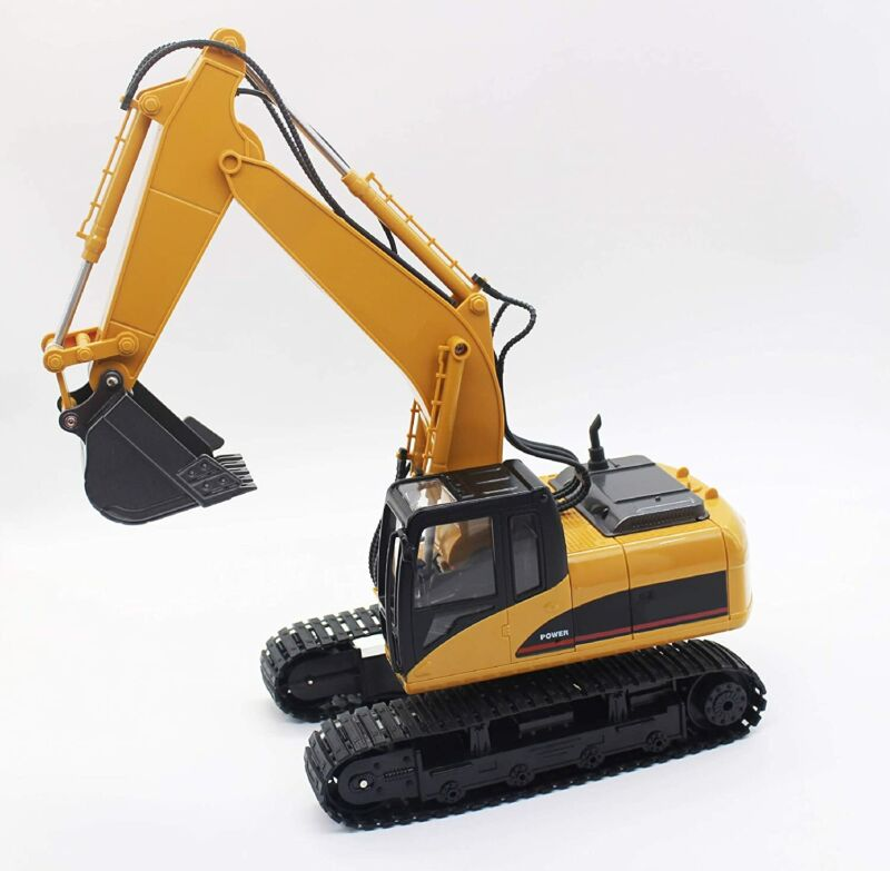 NEW NIB Riviera 1:14 RC Die Cast Heavy Duty Excavator, Yellow - Excellent Gift!