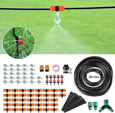 Fixkit Drip Irrigation System, Irrigation Kit with 40m/132FT Water Pipes, Automa