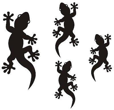 4  Gecko-Aufkleber als Geschenk, Tuning, Wand, Spiegel, Wandtatto, Auto, Bad ()