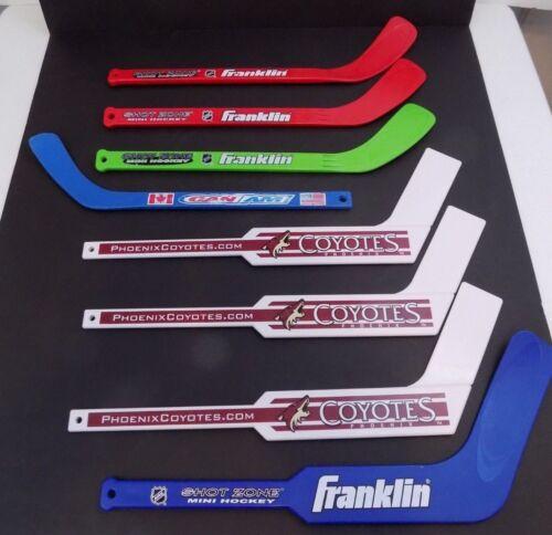 Lot Of 8 - Mini Hockey Sticks-Goalie - Franklin - Can Am - NHL - Phoenix Coyotes