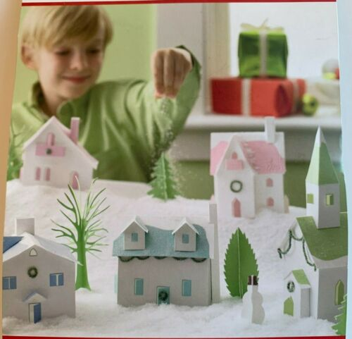Martha Stewart Crafts Frosty Village Paper Kit Christmas Houses Trees Churches