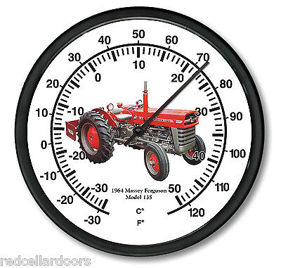 New Massey Ferguson 10 Round Thermometer Vintage 1964 Model 135 Tractor Air
