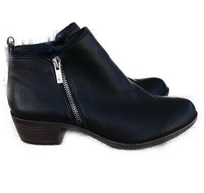Lucky Brand Basel Bootie Womens Size 9 Black Leather Ankle Boot Western