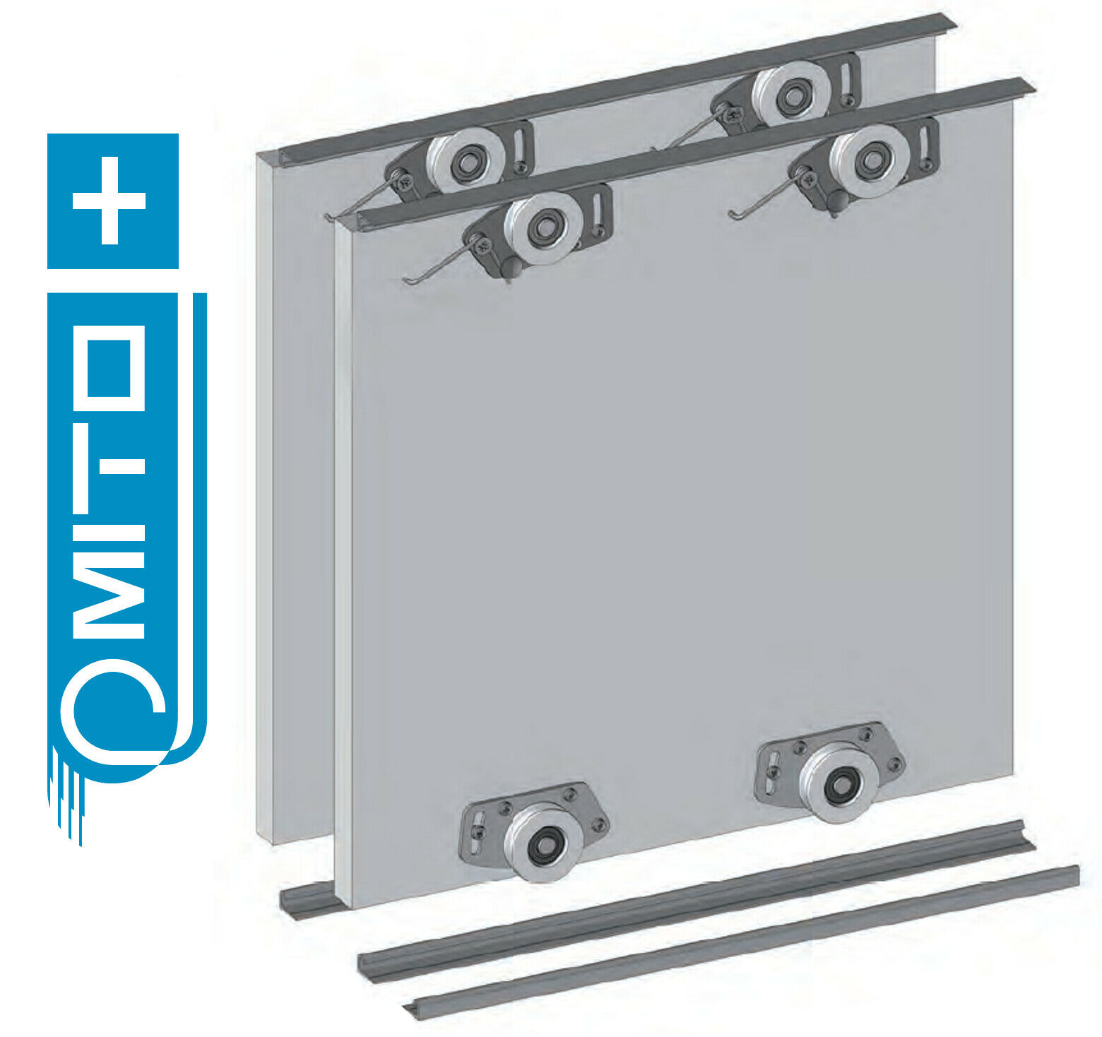 Details about Wardrobe Sliding Door Track Gear System Kit - MITO PLUS -  2000mm, 2500mm, 3000mm