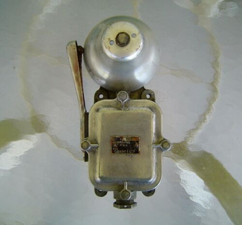 Original Salvaged Aluminum & Iron Russian Alarm Bell
