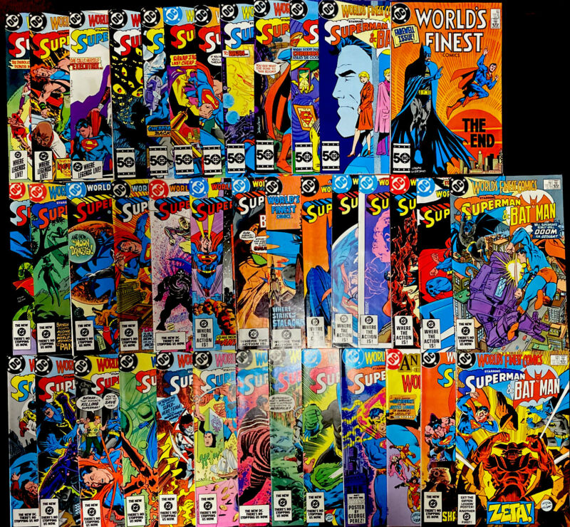 Worlds Finest Comics 🔥 Issues 285-323! High Grade! DC Comics Batman Superman!