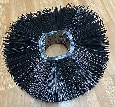 Qty Of 8 Convoluted Poly Wafer Rotating Brush Broom Discs 24 Dia 6-38 Bore