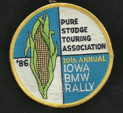Vintage '86 PURE STODGE TOURING ASSOCIATION 10th ANN IOWA BMW RALLY RACING PATCH