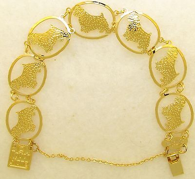 Norfolk Terrier Jewelry Gold Bracelet by Touchstone