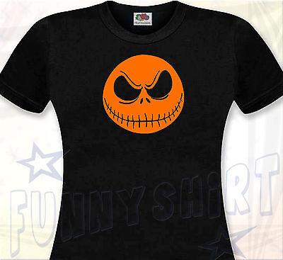 T-SHIRT FEMME Mr. JACK - HALLOWEEN Skull Tête de Mort Etrange Noël Tim Burton  ()