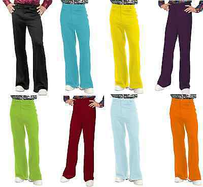 MEN 70S DISCO DANCE FEVER BELLBOTTOM BELL BOTTOM COSTUME PANTS SATURDAY NIGHT - 70s Men Costumes