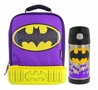 Thermos DC Batgirl Dual Zippered Compartment Lunch Bag w/12o