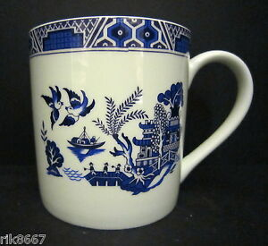 Extra Large Fine Bone China One Pint Pot Mug Willow
