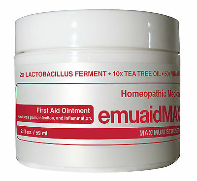 Emuaid Max First Aid Ointment 2Oz   For Eczema Acne Dermatitis Psoriasis   More