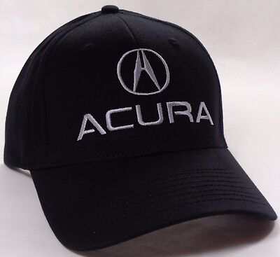 Hat Cap Licensed Flex Fitted Acura A Logo Black Small or Large HR (Small Cap Hat)