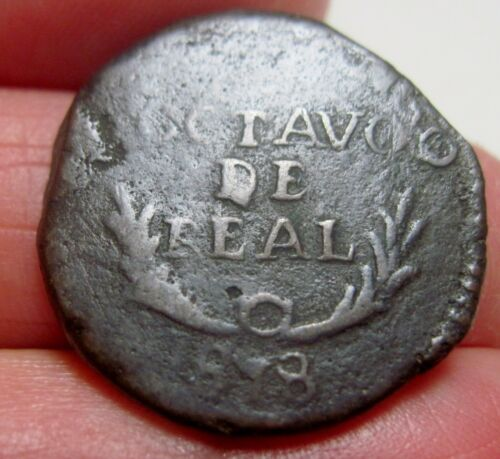 1818 (MEXICO) DURANGO 1/8 ( OCTAVO de  REAL ) -WAR of INDEPENDENCE -FULL DATE