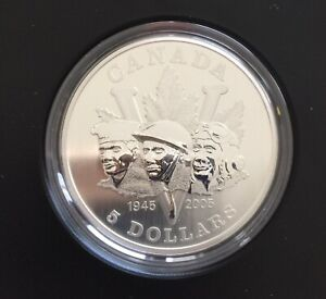 2005 End Of Second World War Proof Silver Coin