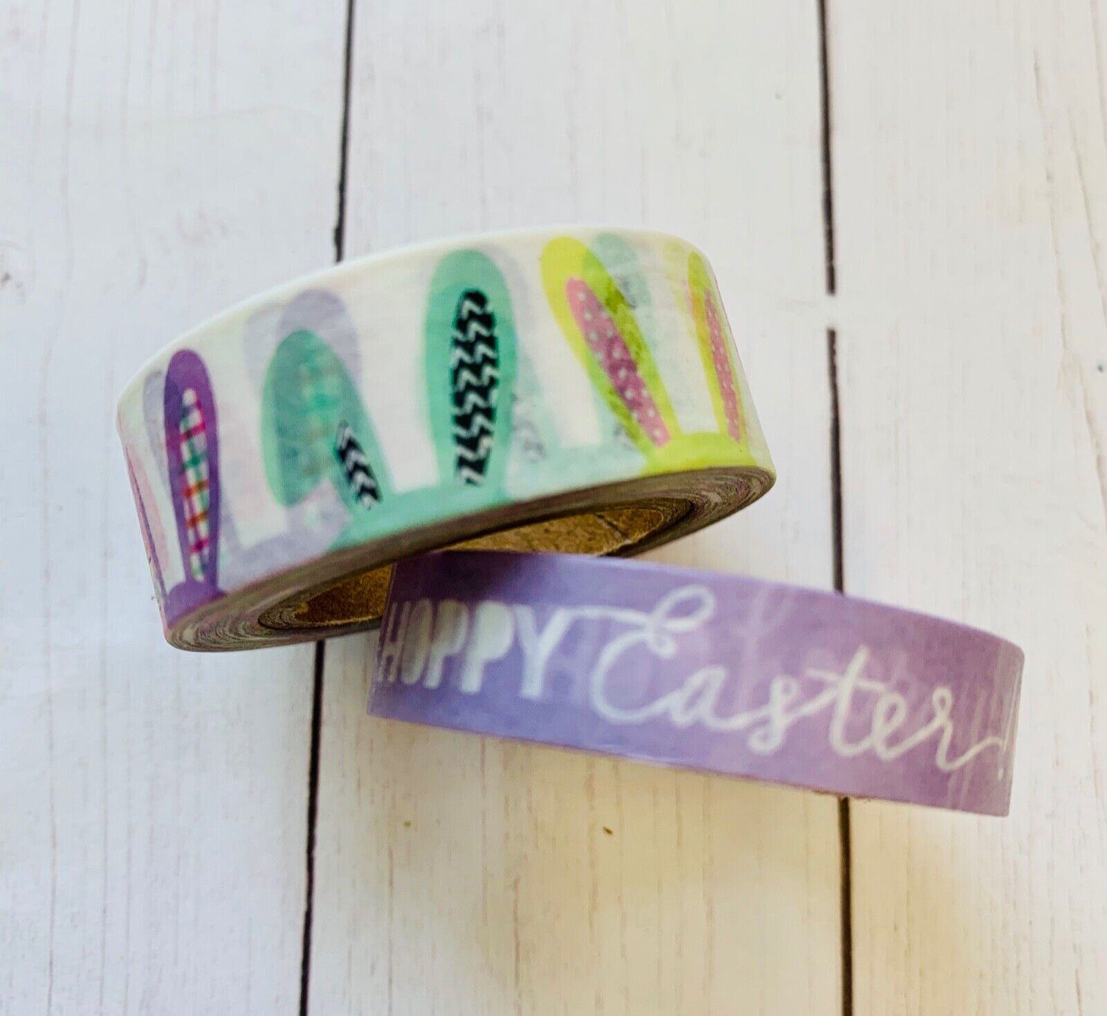 2 Rolls Hoppy Easter Bunny Ears Washi Tape Papercraft Planne