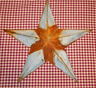 "Rustic Primitive RUSTY Galvanized Tin 12"" Barn Star Country Home Farmhouse charm"