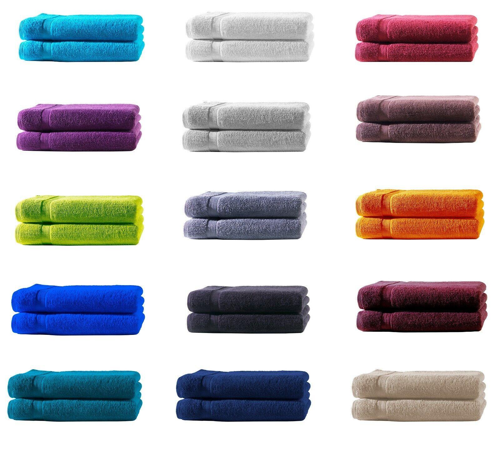 Gästetücher + Handtücher + Duschtücher + Badetücher - Sets 100% BW, 500 g/m²