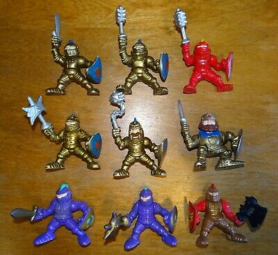 FISHER PRICE IMAGINEXT GREAT ADVENTURES KNIGHTS~LOT OF 9~GOLD RED PURPLE