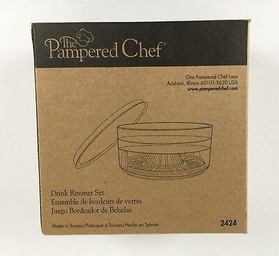 Pampered Chef Drink Rimmer Set 2424 New In Original -