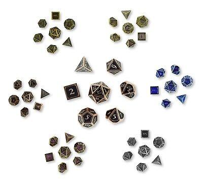 Würfel Rollen (7 Polyedrische Metall Würfel für Rollen und Tabletopspiele - Pen and Paper)