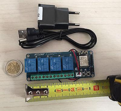 Domotica Iot Wifi 4 relè!Sistema Compatto!Crea la tua APP! Timer,Luci,Caldaia.