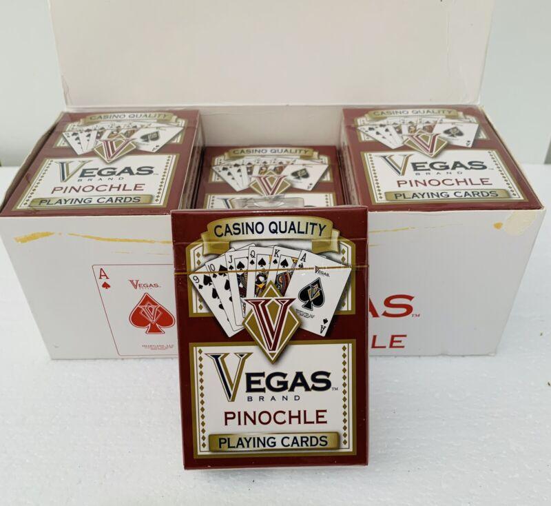 6 decks ~ Vegas Brand ~ Casino Quality ~ Pinochle ~ Playing Cards ~ NIP