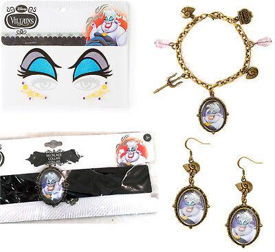 Disney Female Villains Costumes (Claire's DISNEY VILLAINS Jewelry & Eye Set URSULA Costume The Little)