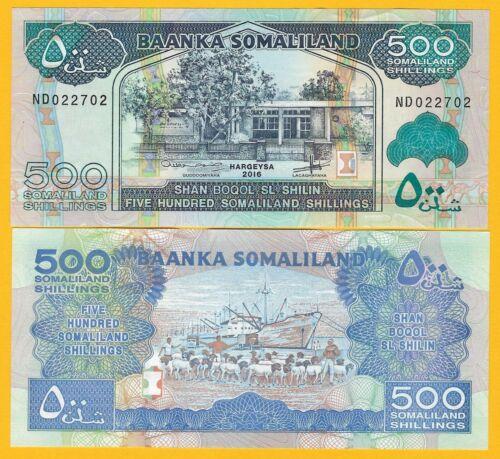 Somaliland 500 Shillings p-6 2016 UNC Banknote