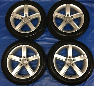 "2013 Audi A4 OEM 17"" Wheels & Winter Tires 60% *Perfect*"