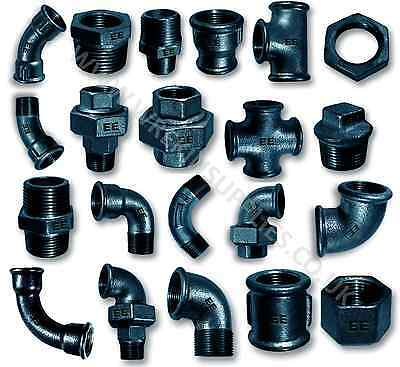 BLACK MALLEABLE IRON PIPE FITTINGS BSP 1/8
