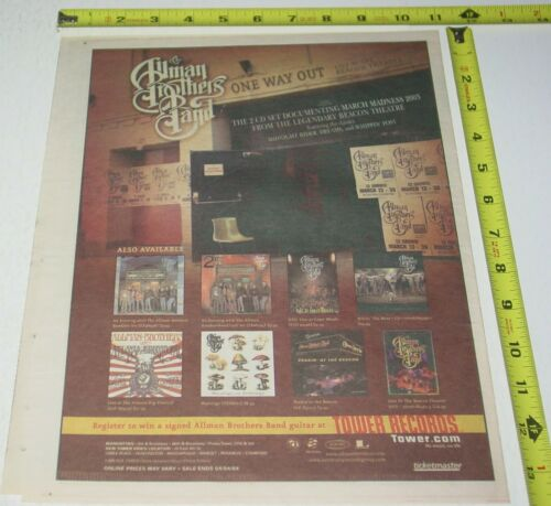Allman Brothers Band Live Album CD AD Advert 2004 One Way Out Southern Rock