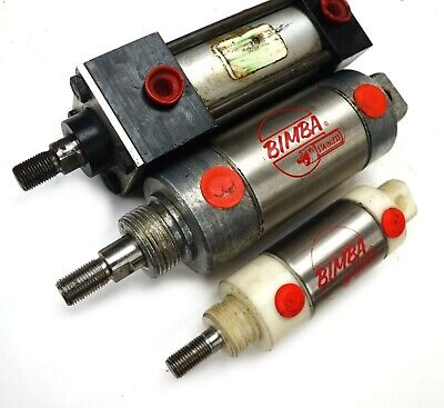 Lot Of 3 New Bimba Speedaire Pneumatic Ss Cylinders 1-12 1-12 2 Bore