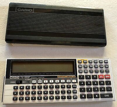 Vintage Casio FX-850P Scientific Calculator Computer Japan New Batteries